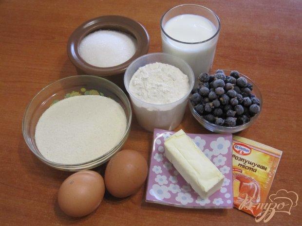 Рецепт Манник с ягодами черной смородины