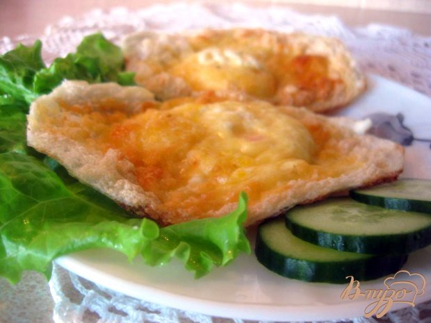 Яичные гнездышки с сыром
