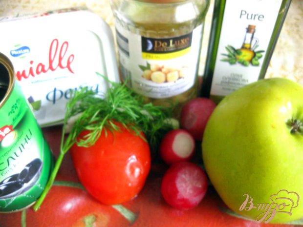 Рецепт Овощной салат с сыром фета и шампиньонами