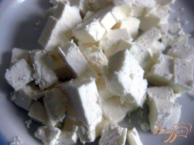 Овощной салат с сыром фета и шампиньонами