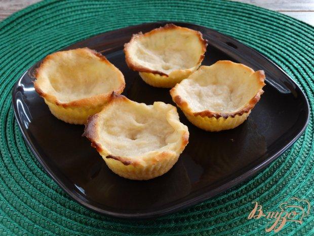 Картофельные корзинки с печенью трески
