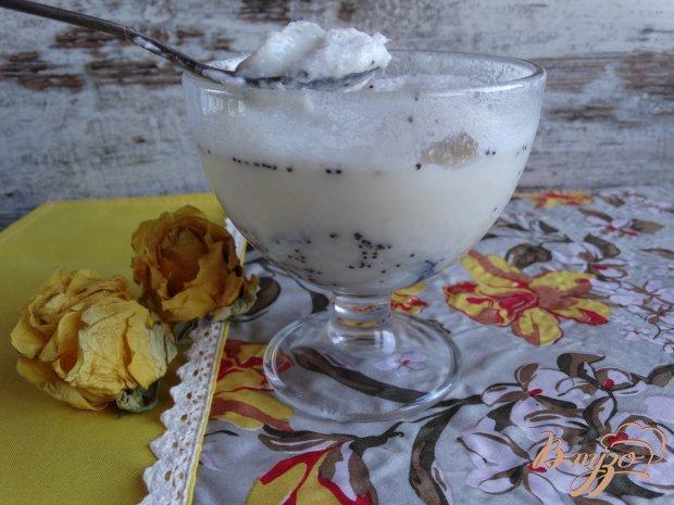 Молочно-зефирное желе с маком