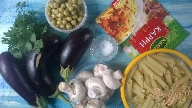 Рецепт Пенне с грибами и баклажанами
