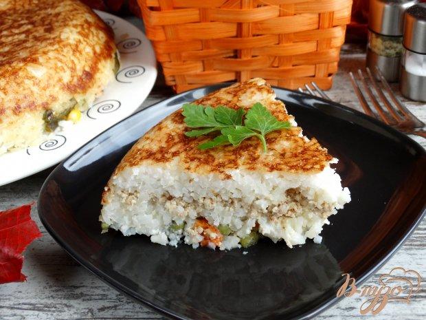 Сытная рисовая запеканка со свининой и овощами