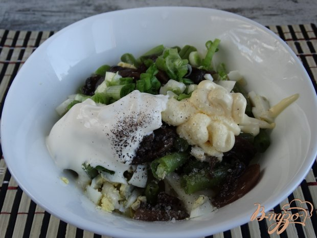 Салат с пастой и стручковой фасолью