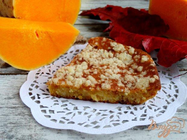 Тыквенно-творожный пирог со штрейзелем