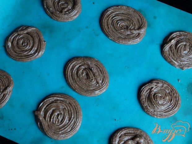 Шоколадные пирожные с зефиром