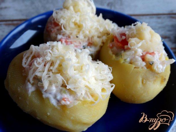 Картофельные лодочки с брокколи и помидорами
