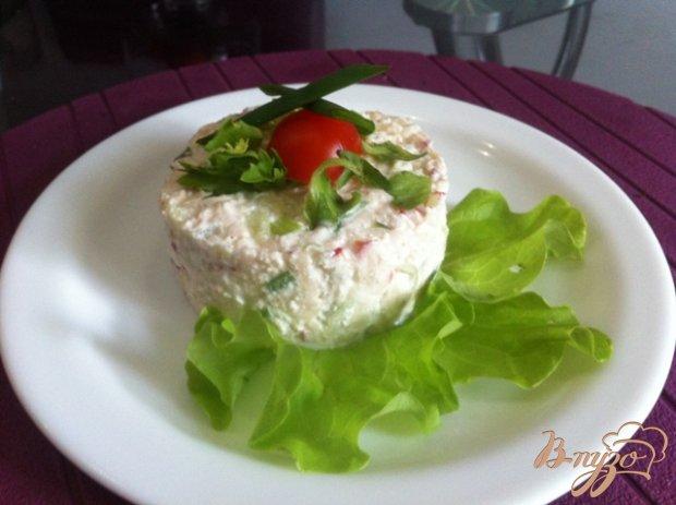 Салат с творогом и овощами
