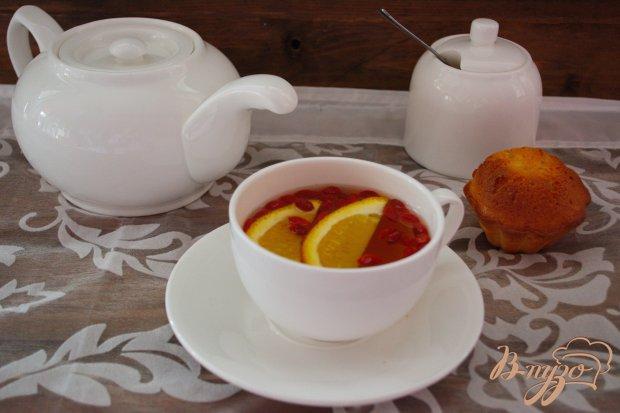 Апельсиновый напиток с ягодами годжи