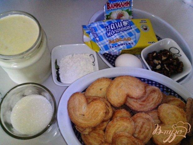 Рецепт Торт «Наполеон» из печенья «Ушки»