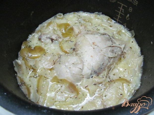 Курица с капустой в горчичном соусе