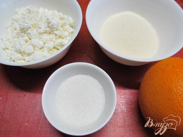 Рецепт Десерт из манки и апельсина