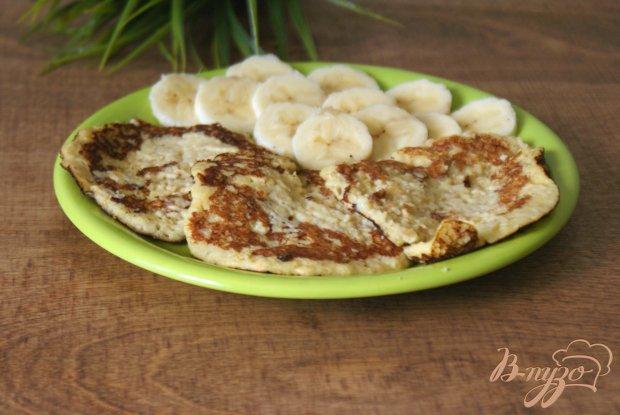 Банановые оладьи с геркулесом