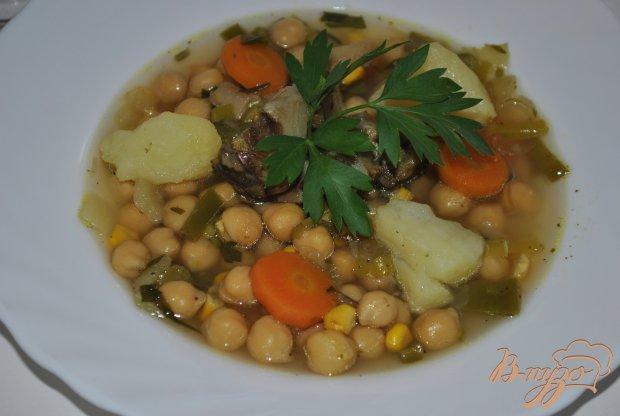 Суп с кукурузой и горохом нут