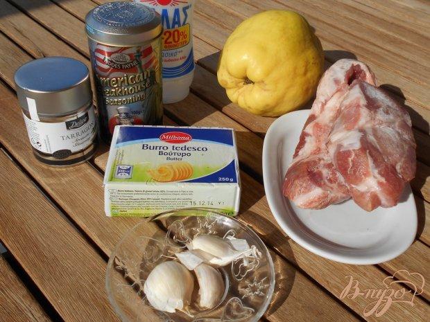 Рецепт Свинина с айвой