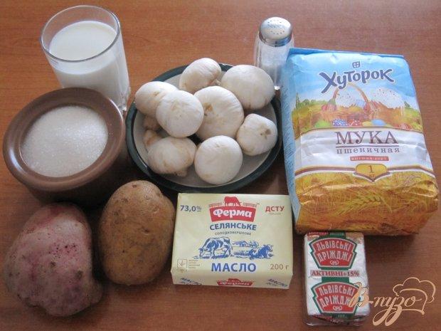Рецепт Пирожки в духовке с картофелем и грибами