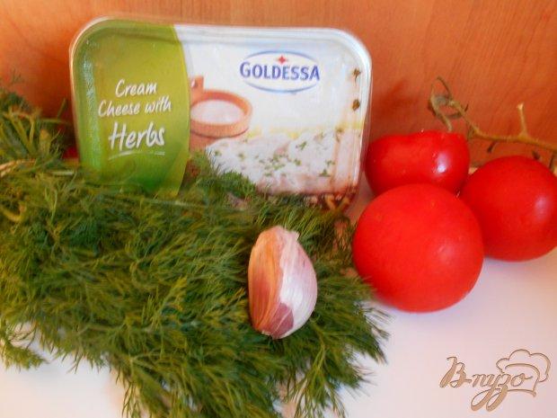 Рецепт Помидоры фаршированные сыром с чесноком