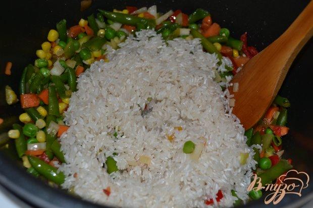 Рис с овощами в мультиварке-скороварке