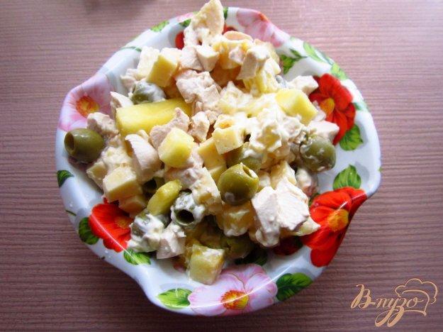 рецепт салат з оливками и
