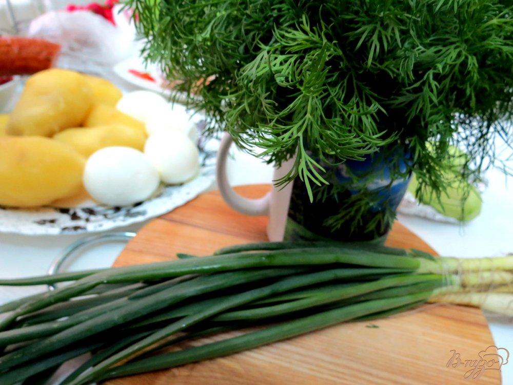Фото приготовление рецепта: Окрошка шаг №4