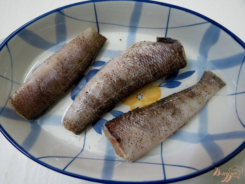 Фото приготовление рецепта: Нототения с овощами в духовке. шаг №3