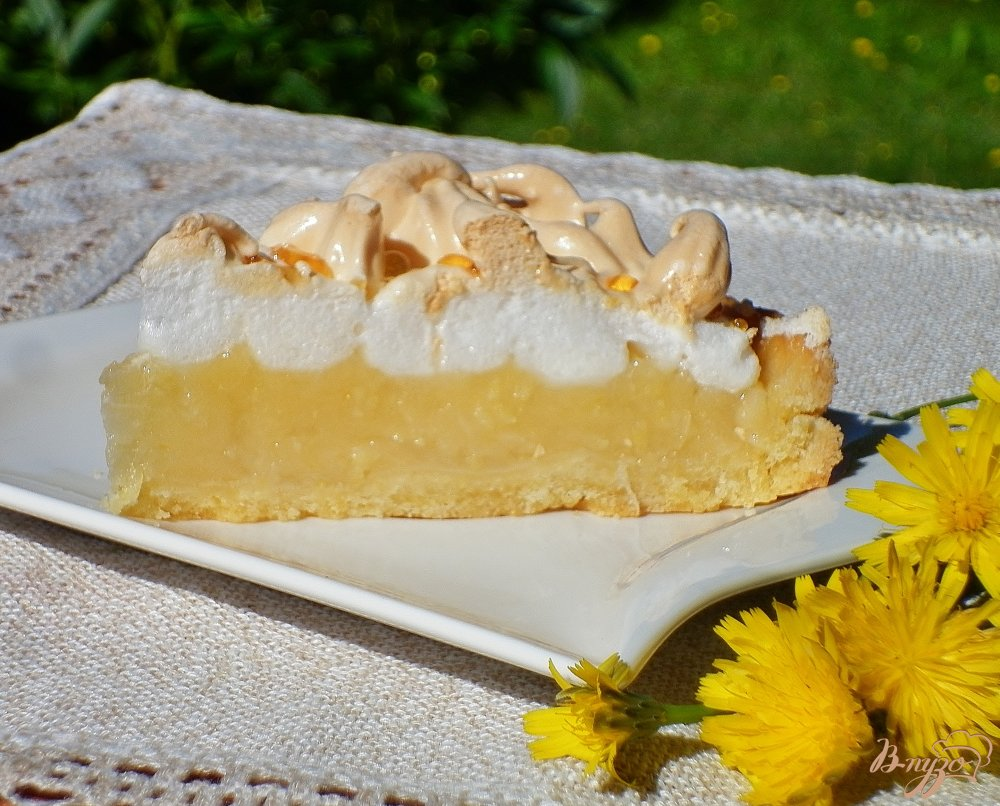 Лимонный торт (Torta meringata al limone)
