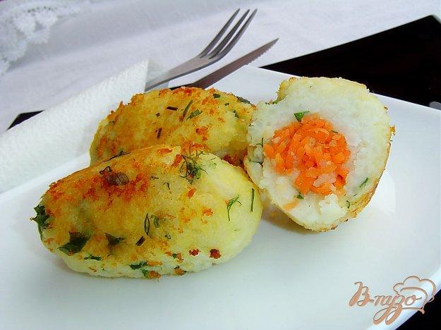 фото рецепта: Котлеты рисово-картофельные с морковью