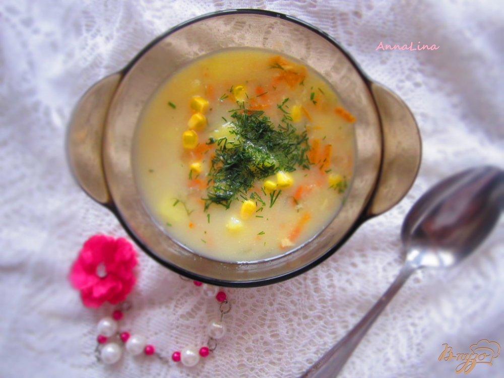 Фото приготовление рецепта: Суп на молоке с кукурузой шаг №5