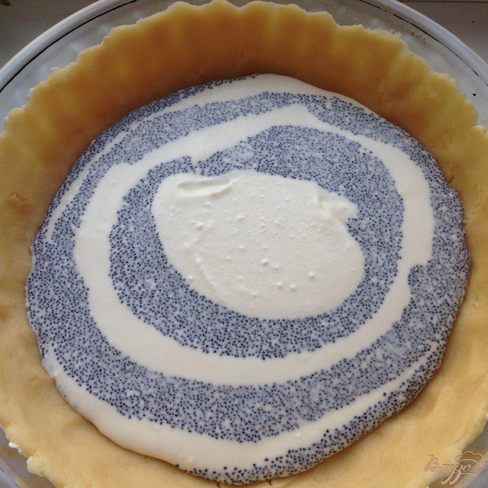 Фото приготовление рецепта: Пирог с творогом и маком шаг №8