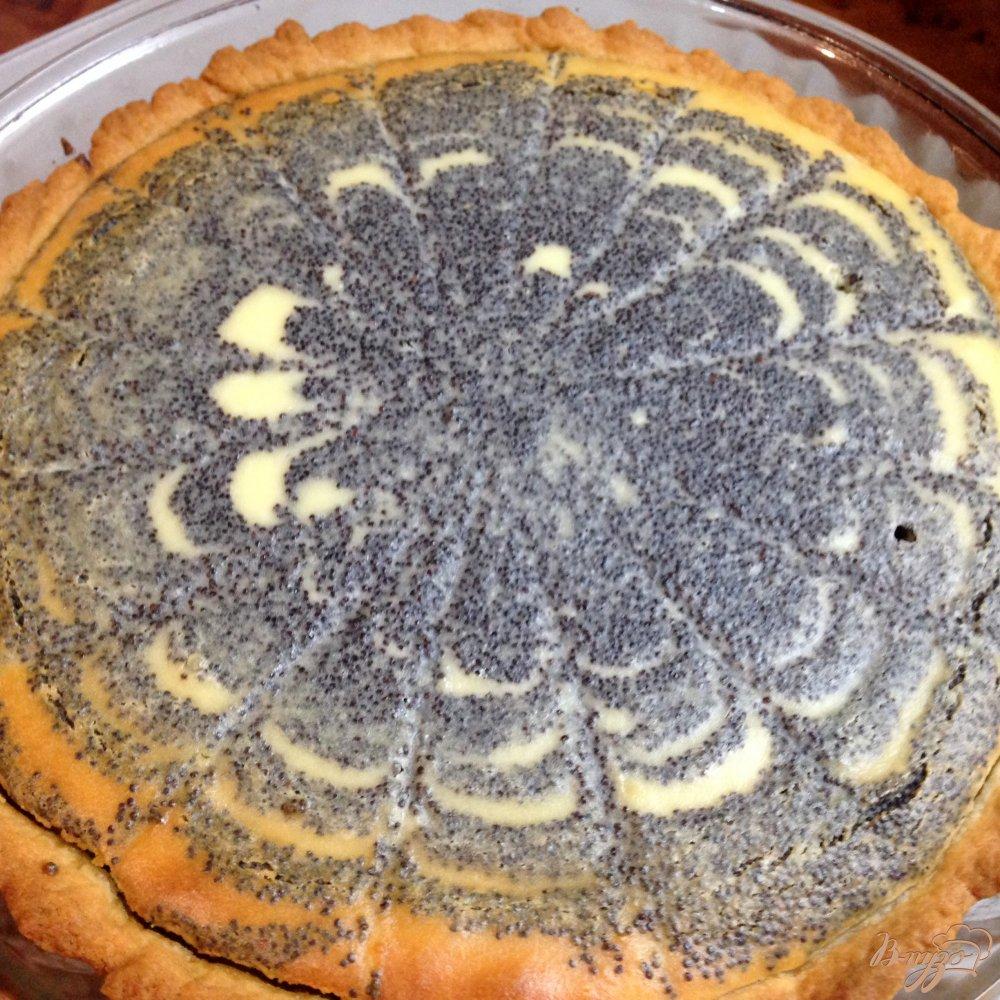 Фото приготовление рецепта: Пирог с творогом и маком шаг №10