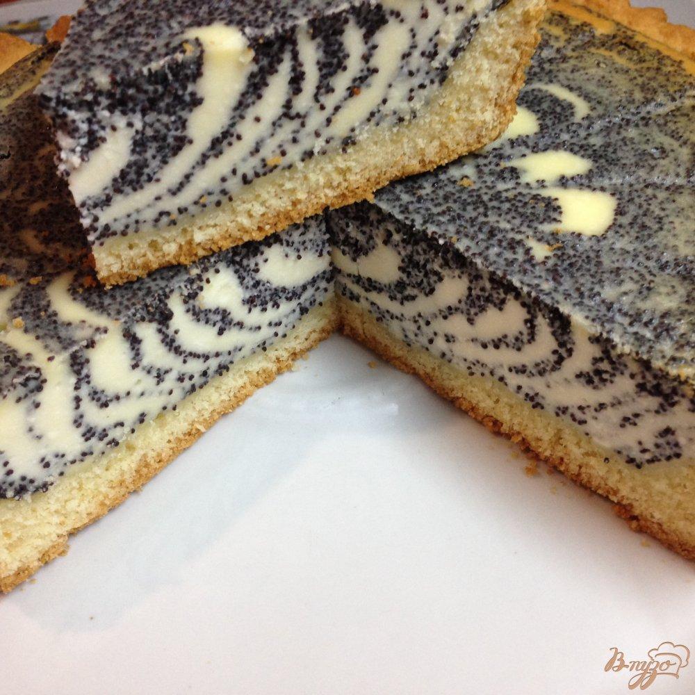 Фото приготовление рецепта: Пирог с творогом и маком шаг №11