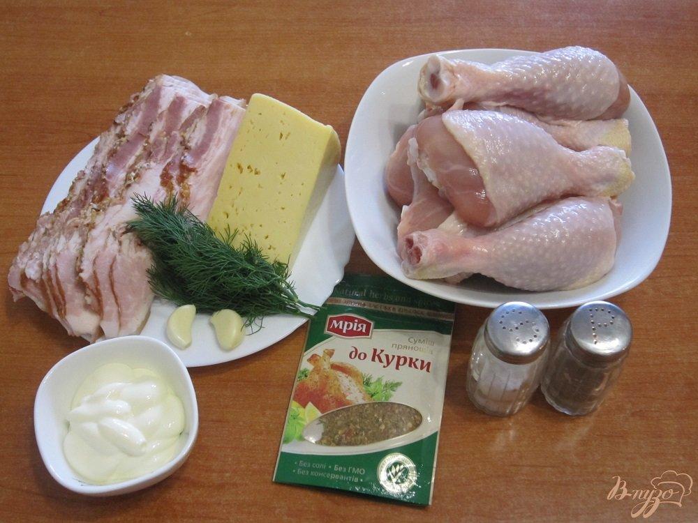 Фото приготовление рецепта: Куриные ножки в беконе шаг №1