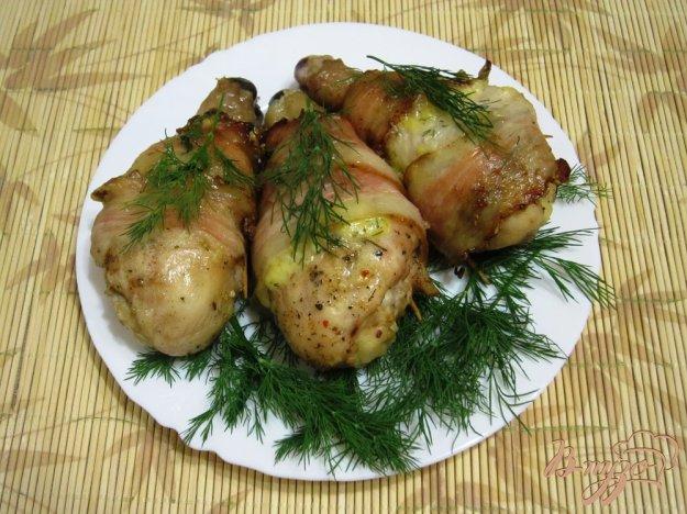 фото рецепта: Куриные ножки в беконе