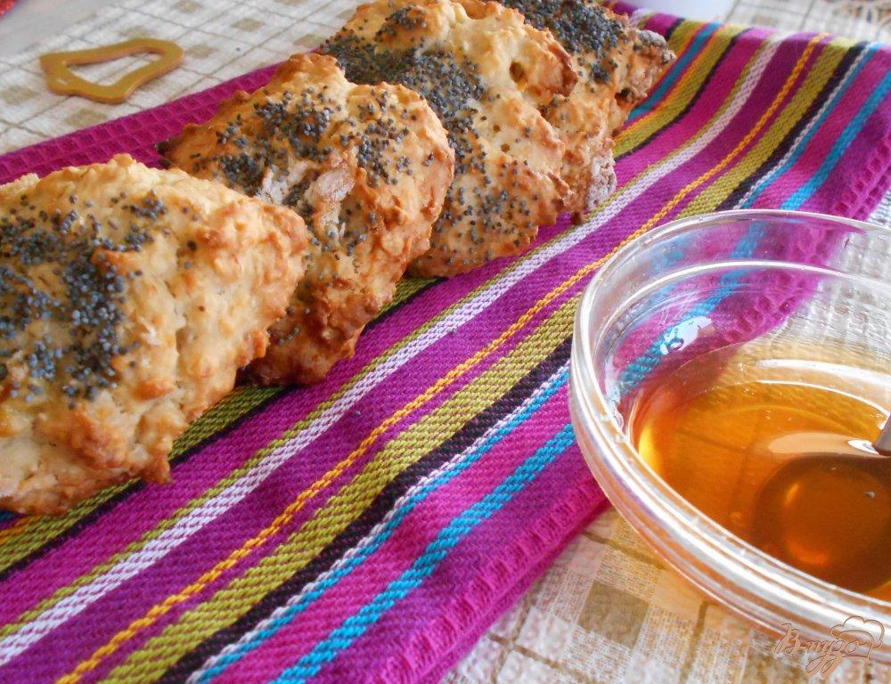 Фото приготовление рецепта: Бананово- овсяное печенье с маком шаг №7
