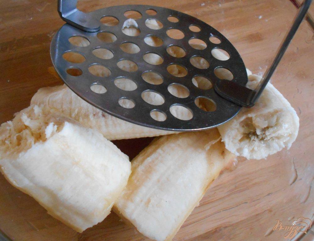 Фото приготовление рецепта: Бананово- овсяное печенье с маком шаг №4