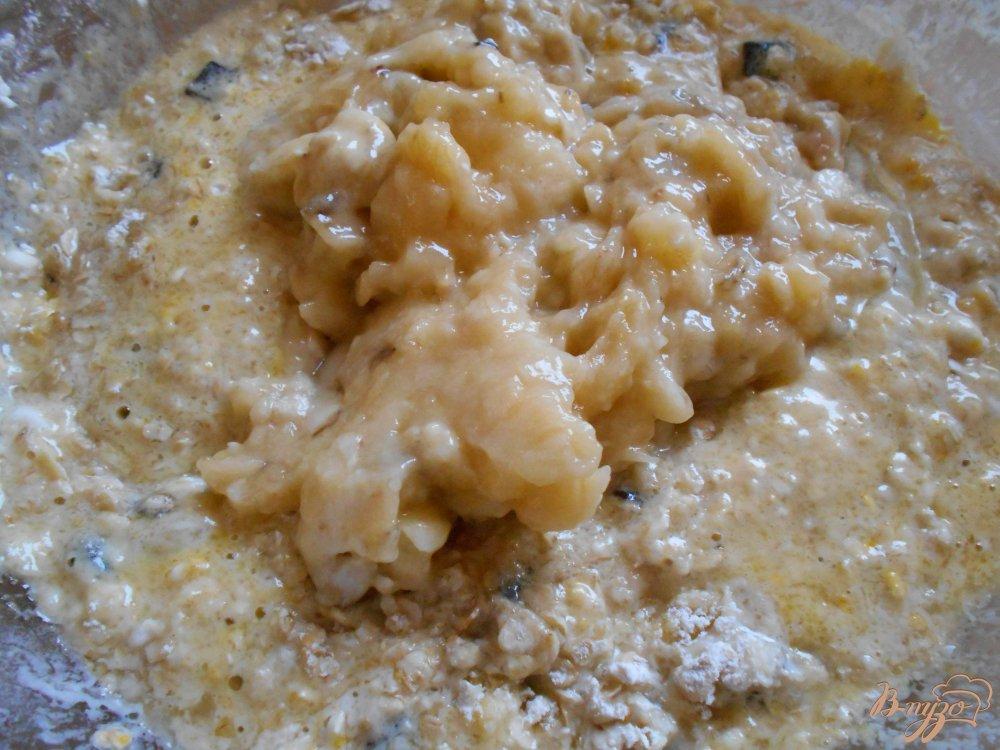 Фото приготовление рецепта: Бананово- овсяное печенье с маком шаг №5