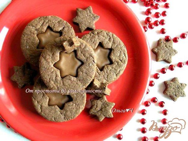 фото рецепта: Шоколадное печенье с шоколадным кремом