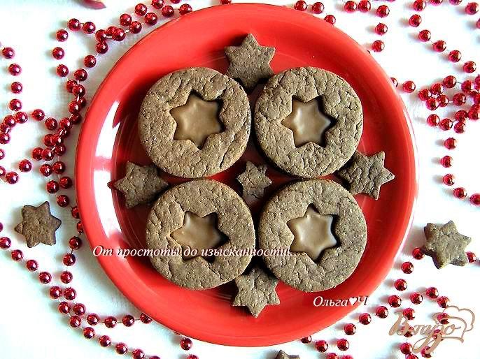 Фото приготовление рецепта: Шоколадное печенье с шоколадным кремом шаг №6