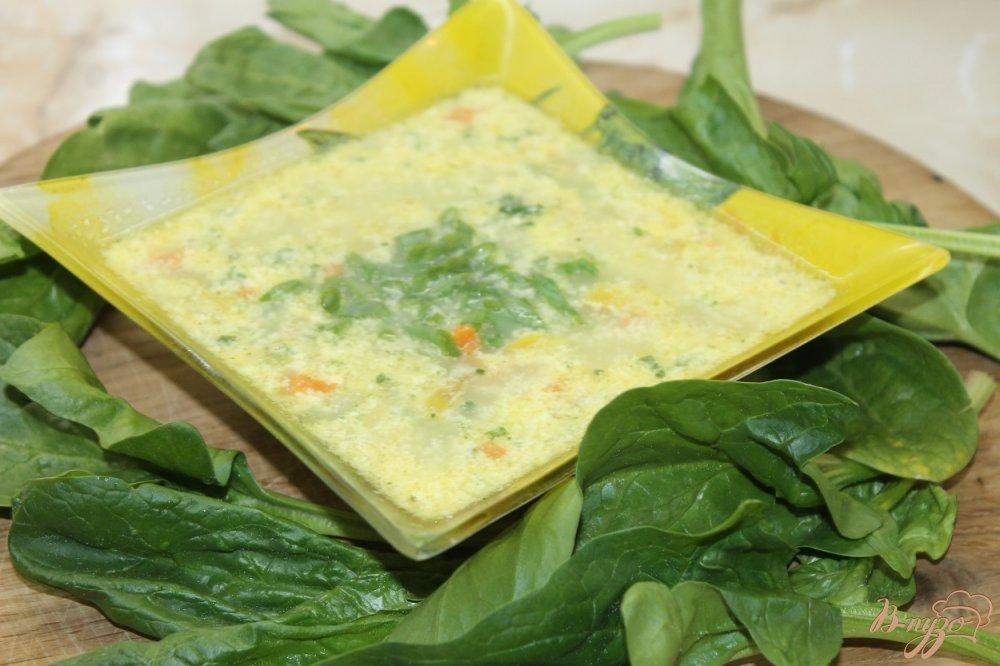 Фото приготовление рецепта: Сливочный суп с луком пореем и курицей шаг №10
