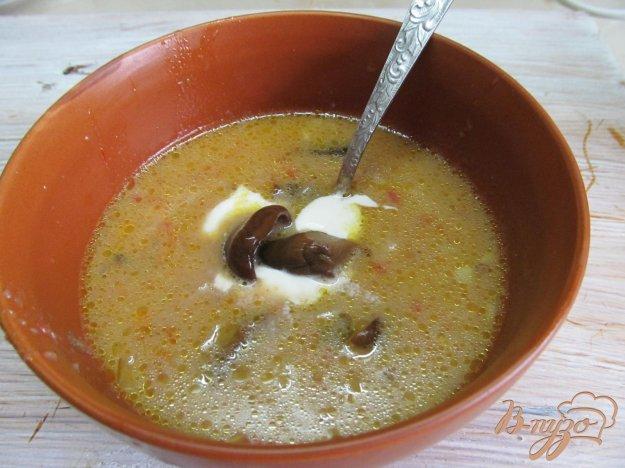 фото рецепта: Борщ с маринованными грибами