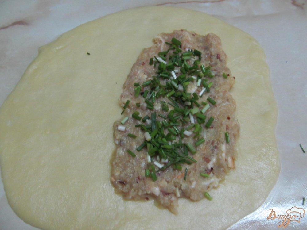 Фото приготовление рецепта: Кутабы с фаршем шаг №6