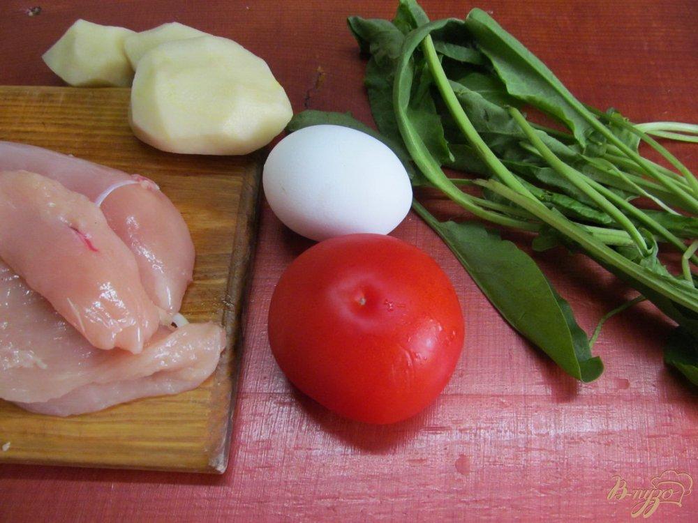 Фото приготовление рецепта: Теплый салат с курицей шаг №1