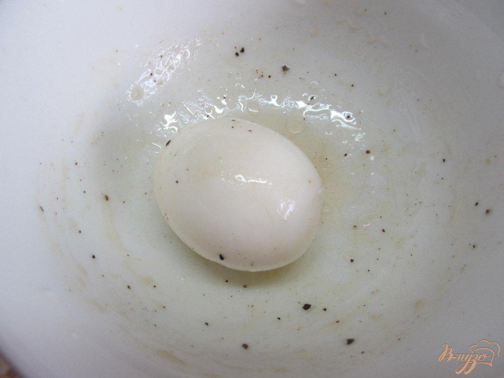 Фото приготовление рецепта: Теплый салат с курицей шаг №9