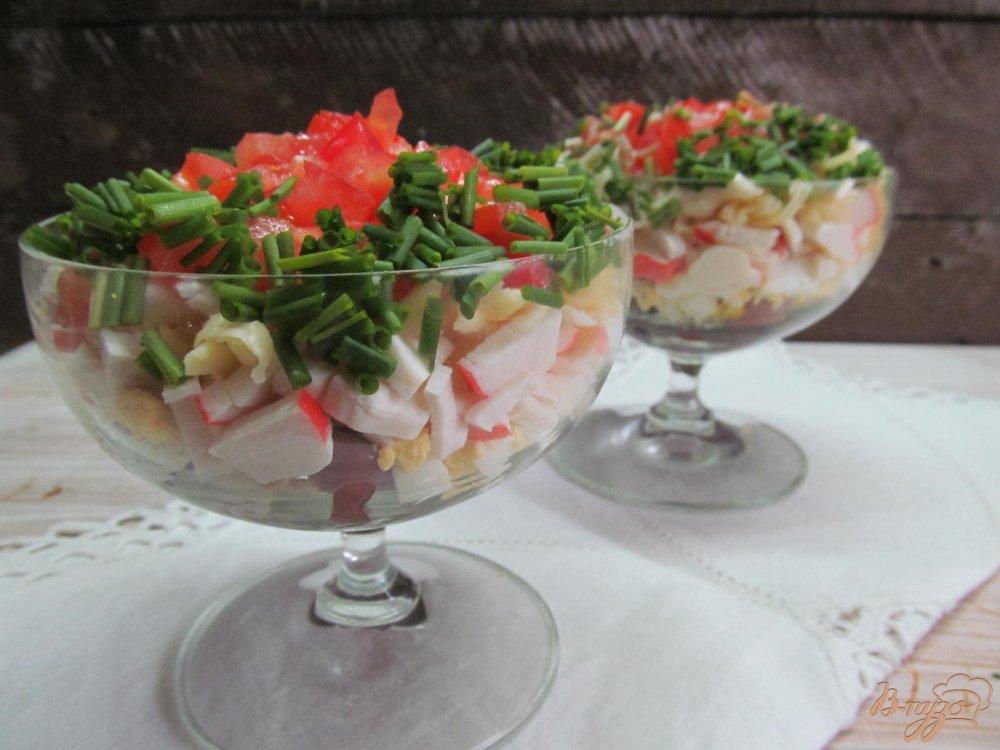 салат с крабовыми палочками фасолью рецепт с фото