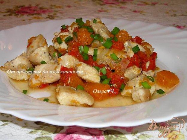 фото рецепта: Куриное филе с перцем и тыквой