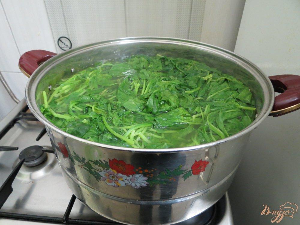 Фото приготовление рецепта: Шпинат - заморозка впрок шаг №4