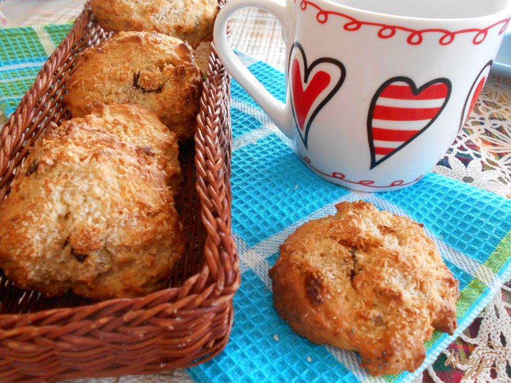 Фото приготовление рецепта: Печенье кокосово-банановое шаг №5
