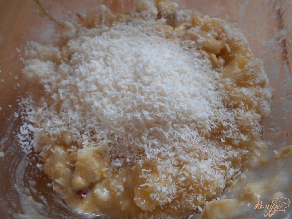 Фото приготовление рецепта: Печенье кокосово-банановое шаг №3