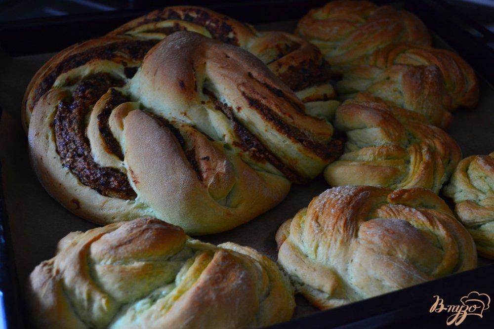 Фото приготовление рецепта: Сдобные пироги из мятного теста шаг №15